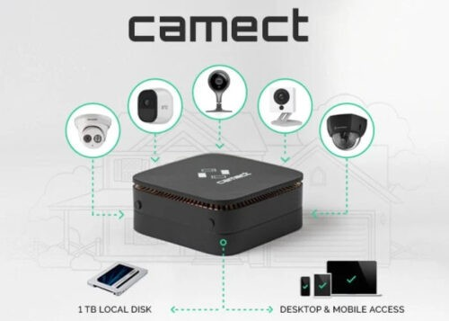 CAMECT home security camera hub offers local video storage and easy access