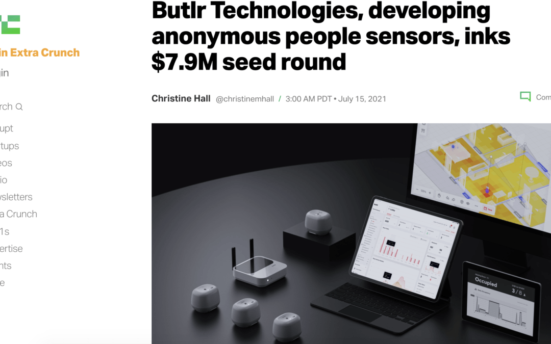 Butlr Technologies, developing anonymous people sensors, inks $7.9M seed round